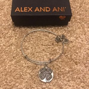 Alex and Ani four leaf clover bracelet